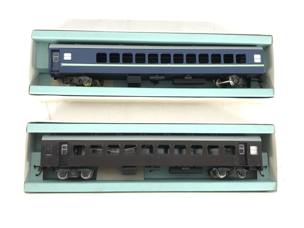 HOWA ナロ 10 青 茶 2両 HOゲージ 鉄道模型 ジャンク S5705107_画像8