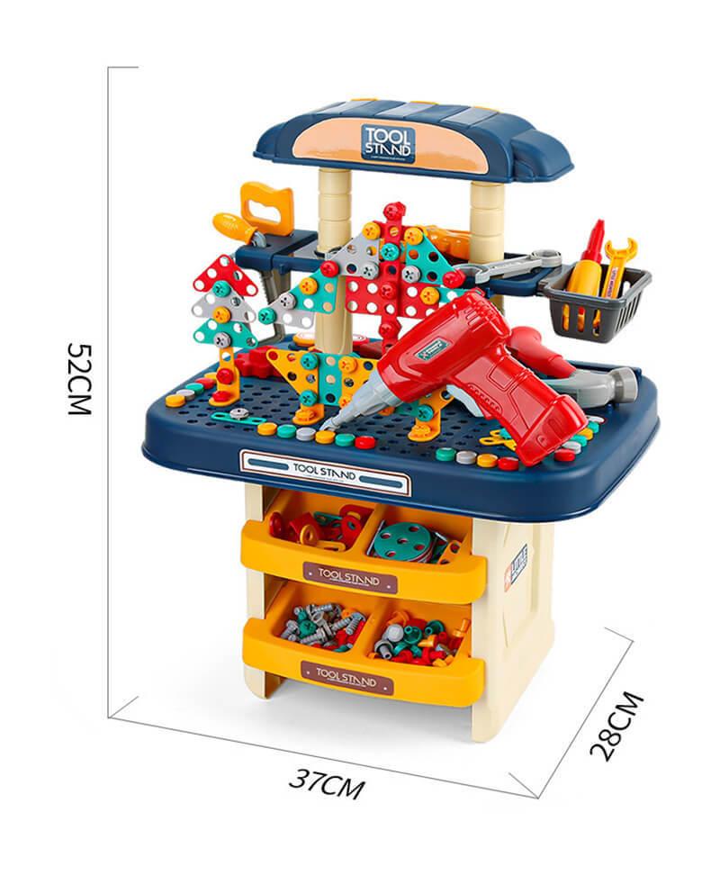 おもちゃ 工具セット 電動ドライバー 全386点セット 男の子 女の子 知育 大工さん 子供 幼児 おままごと 収納 知育玩具 収納sp402_画像7