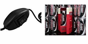 繋いでヒンヤリ USB ミニ冷蔵庫 缶ジュース用 ワンタッチで温めも可能 冷温庫 ホット&ヒーター a102_画像3
