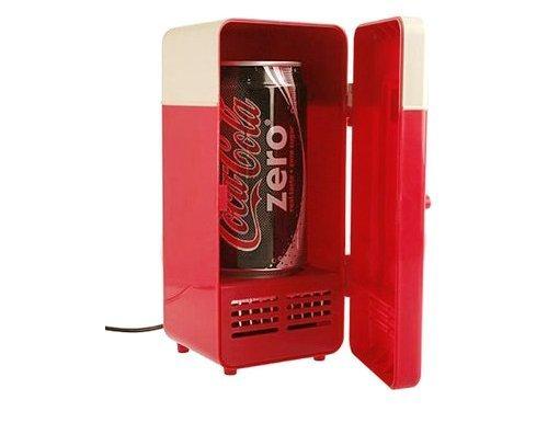 繋いでヒンヤリ USB ミニ冷蔵庫 缶ジュース用 ワンタッチで温めも可能 冷温庫 ホット&ヒーター a102_画像1