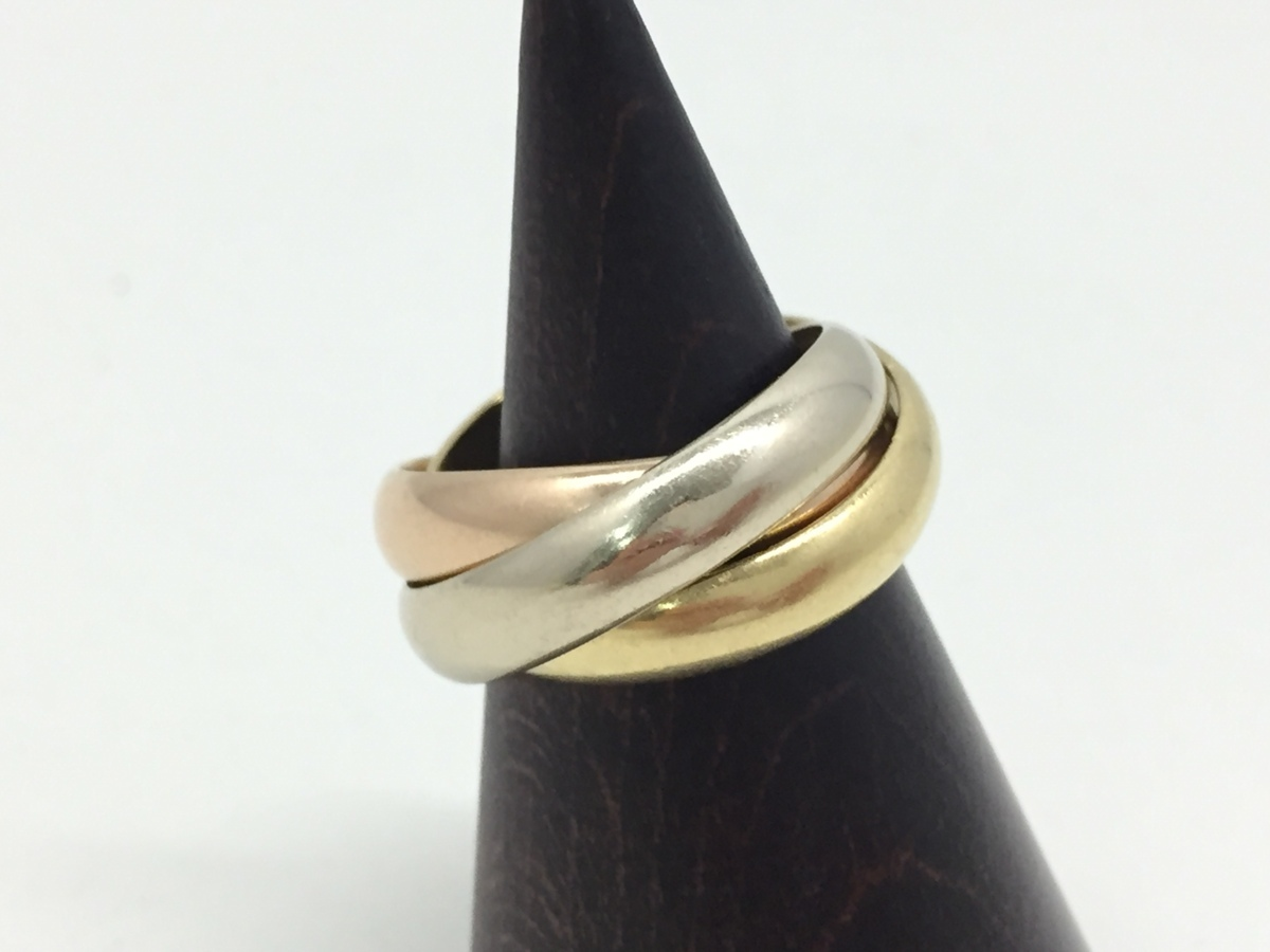 【6m3006】Cartier カルティエ トリニティリング 48号 レディース 指輪 アクセサリー 中