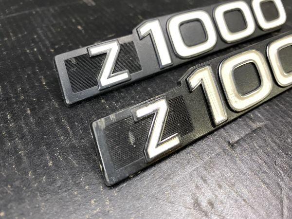 Z1000A1 純正ヨ-ロッパ仕様サイドカバ-エンブレム2枚_画像2