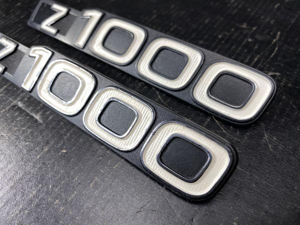 Z1000A1 純正ヨ-ロッパ仕様サイドカバ-エンブレム2枚_画像3