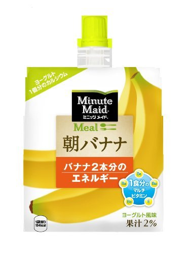 コカ・コーラ ミニッツメイド 朝バナナ ゼリー飲料 パウチ 180g×6個_画像1