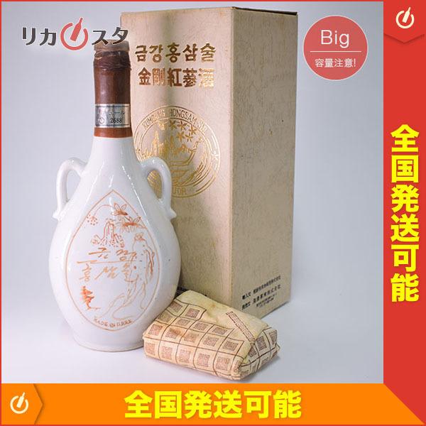 1円~★古酒★金剛紅参酒 陶器ボトル *箱付 ※ 800ml/1230g_30% 韓国酒 リキュール F27