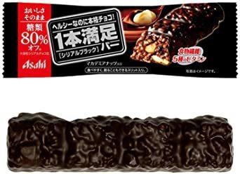 9本 アサヒグループ食品 1本満足バー シリアルブラック糖80%オフ 1本×9本_画像1
