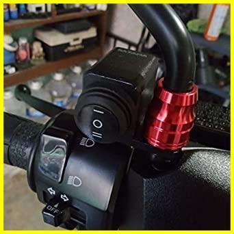 【即決 早い者勝ち】オートバイハンドルバースイッチ ATVバイク 12V ON-OFF-ON ヘッドライトフォグライトスイッチ 防水 過負荷保護 ブ_画像2