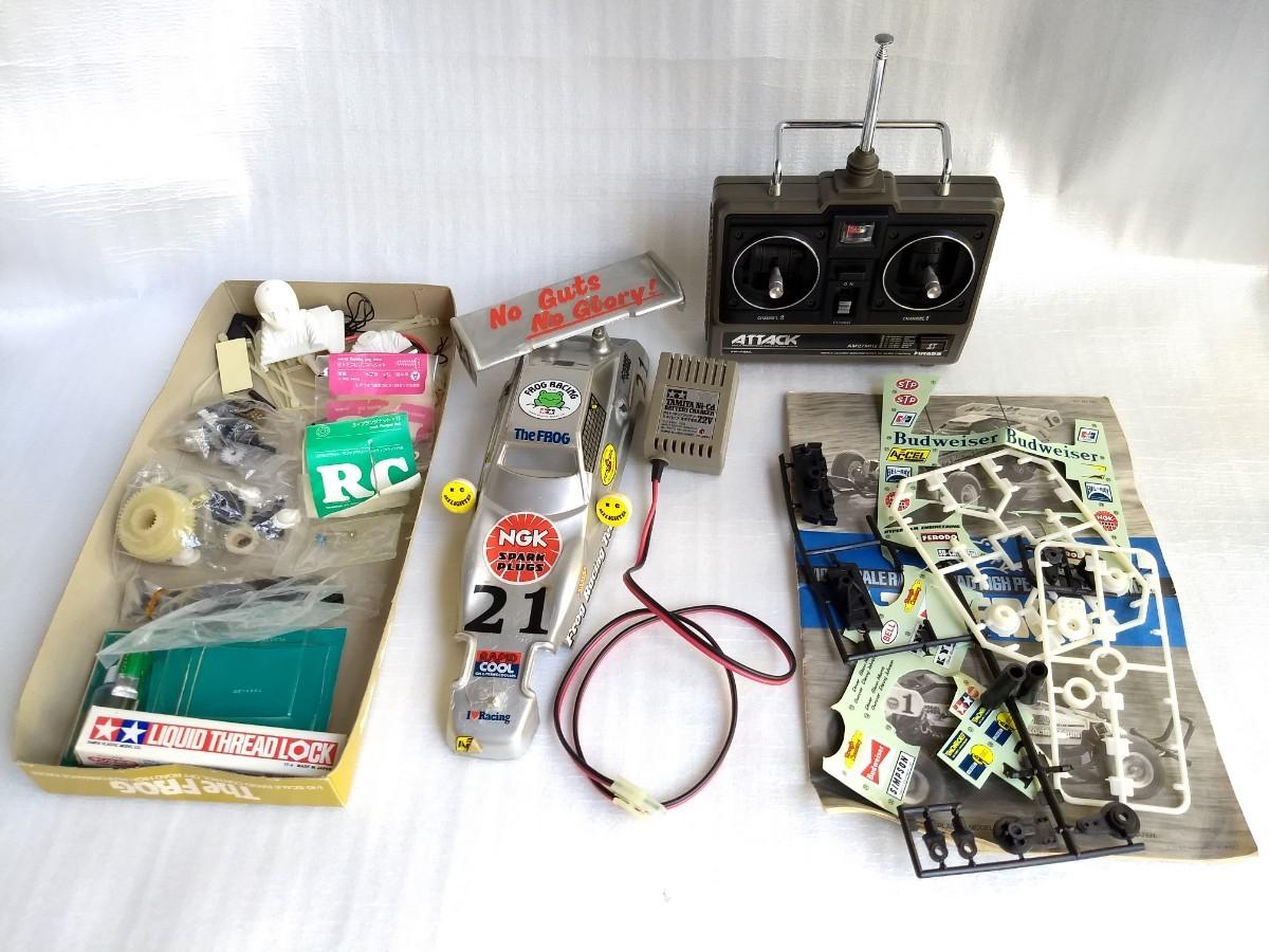 タミヤ ラジコン 1983年 マイティフロッグ 動作品 フタバ プロポ 充電器 説明書 RC オフロード オンロード