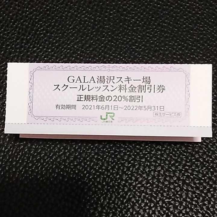 ガーラ湯沢スキー場 スクールレッスン料金 20%割引券 多数出品_画像1