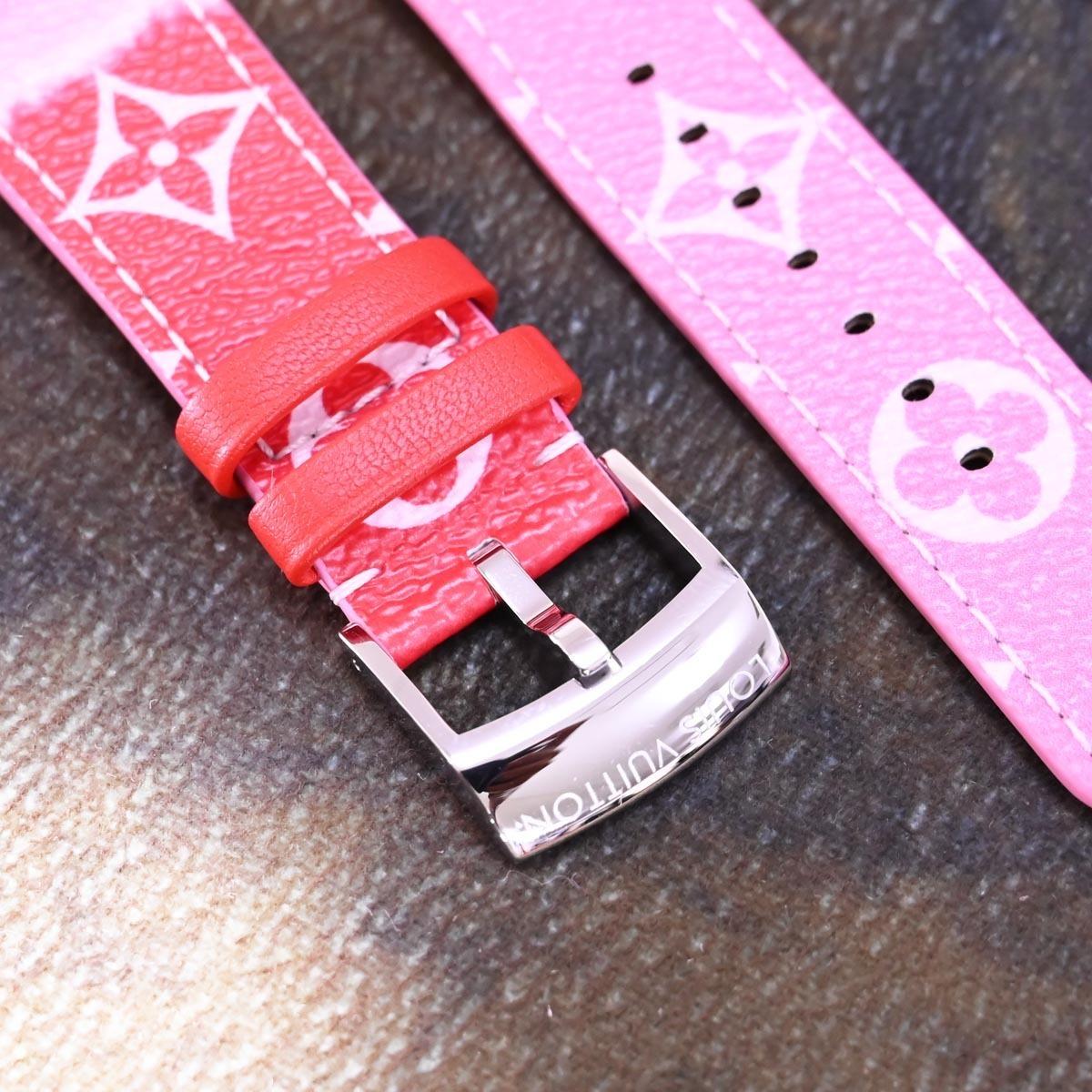本物 新品 ルイヴィトン 極希少 モノグラム エスカル 現行ワンタッチ型 メンズ タンブール ベルト 尾錠 ウォッチバンド 腕時計 バックル_画像3