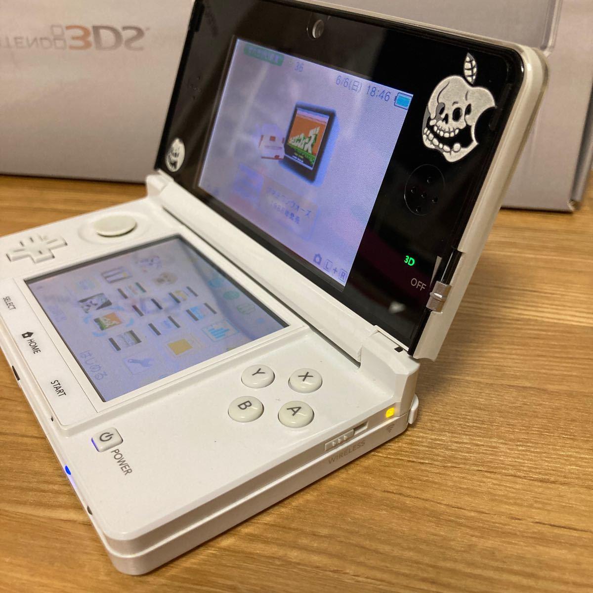 最終価格)ニンテンドー3DS本体 アイス ホワイト DLソフト内蔵