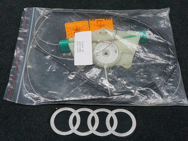 新品 アウディ A4 S4 RS4 B6 B7 8E パワー ウインドウ レギュレーター 前左 フロント 助手席側 Audi_画像5