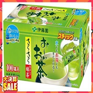 【新品 即決 早い者勝ち】緑茶 100本 (スティックタイプ) 伊藤園 おーいお茶 抹茶入りさらさら緑茶 0.8g×100本 (_画像1