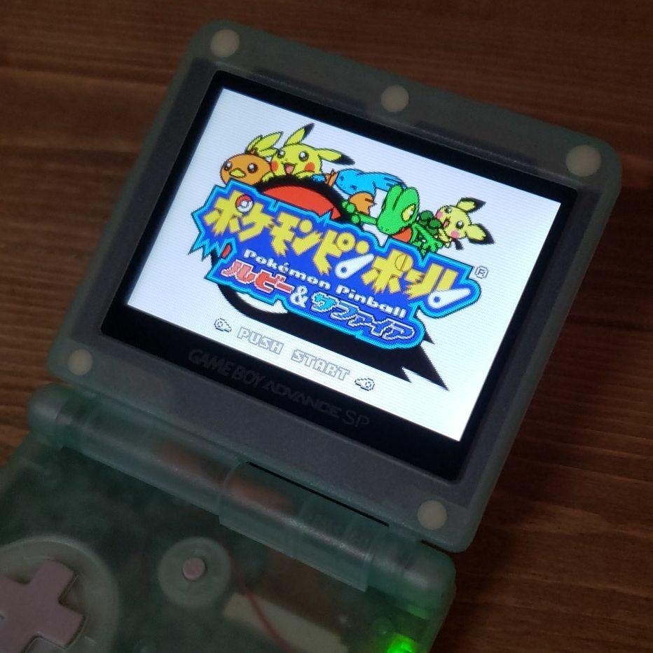 【訳あり】ゲームボーイアドバンスSP  IPSバックライト液晶  v3