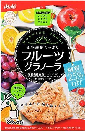 【★速達便★】:アサヒグループ食品 バランスアップフルーツグラノーラ糖質25%オフ 150g&5箱_画像1