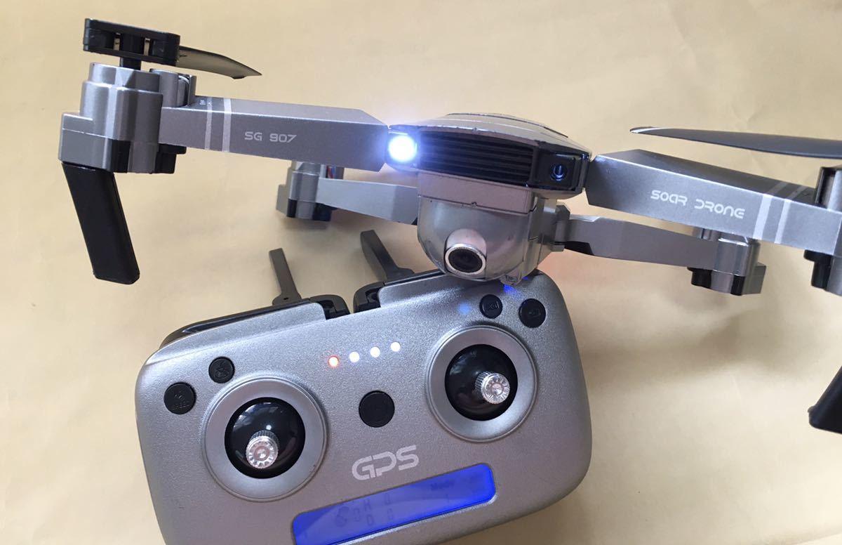ドローンカメラ付き トイドローン SG907 GPS ZLRC 撮影可能 4K ジャンク扱い バッテリー3個他予備モーター 専用バッグ WiFi