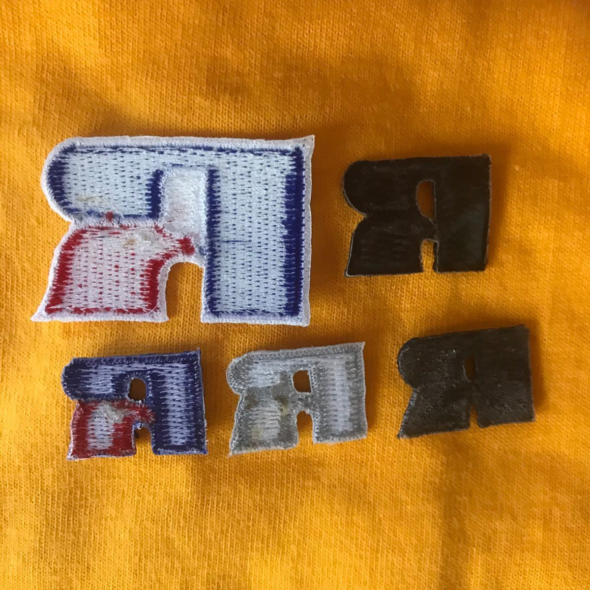 ワッペン ラッセルアスレチック 5枚セット アイロンワッペン RUSSEL ATHLETICラッセルアスレティック 刺繍ワッペン