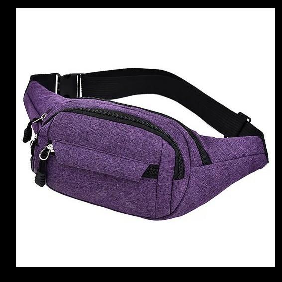 ウエストポーチ ボディバッグ  ウエストバッグ 紫 パープル