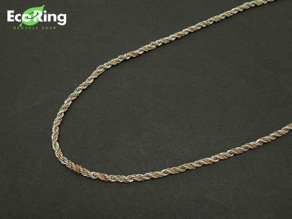 1円 ティファニー シルバー925×ゴールド750 コンビ ロープチェーン ネックレス BH206