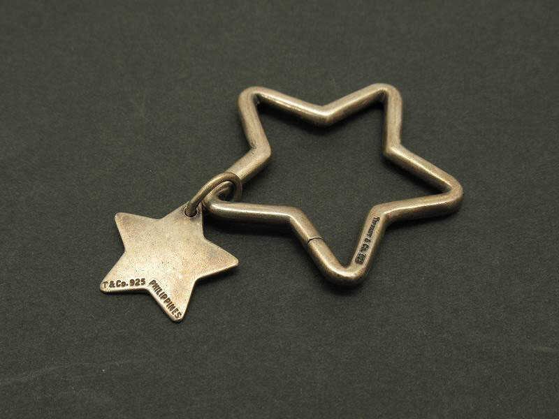 1円 ティファニー 星型 ぶら下がりデザイン シルバー925 チャーム BH616