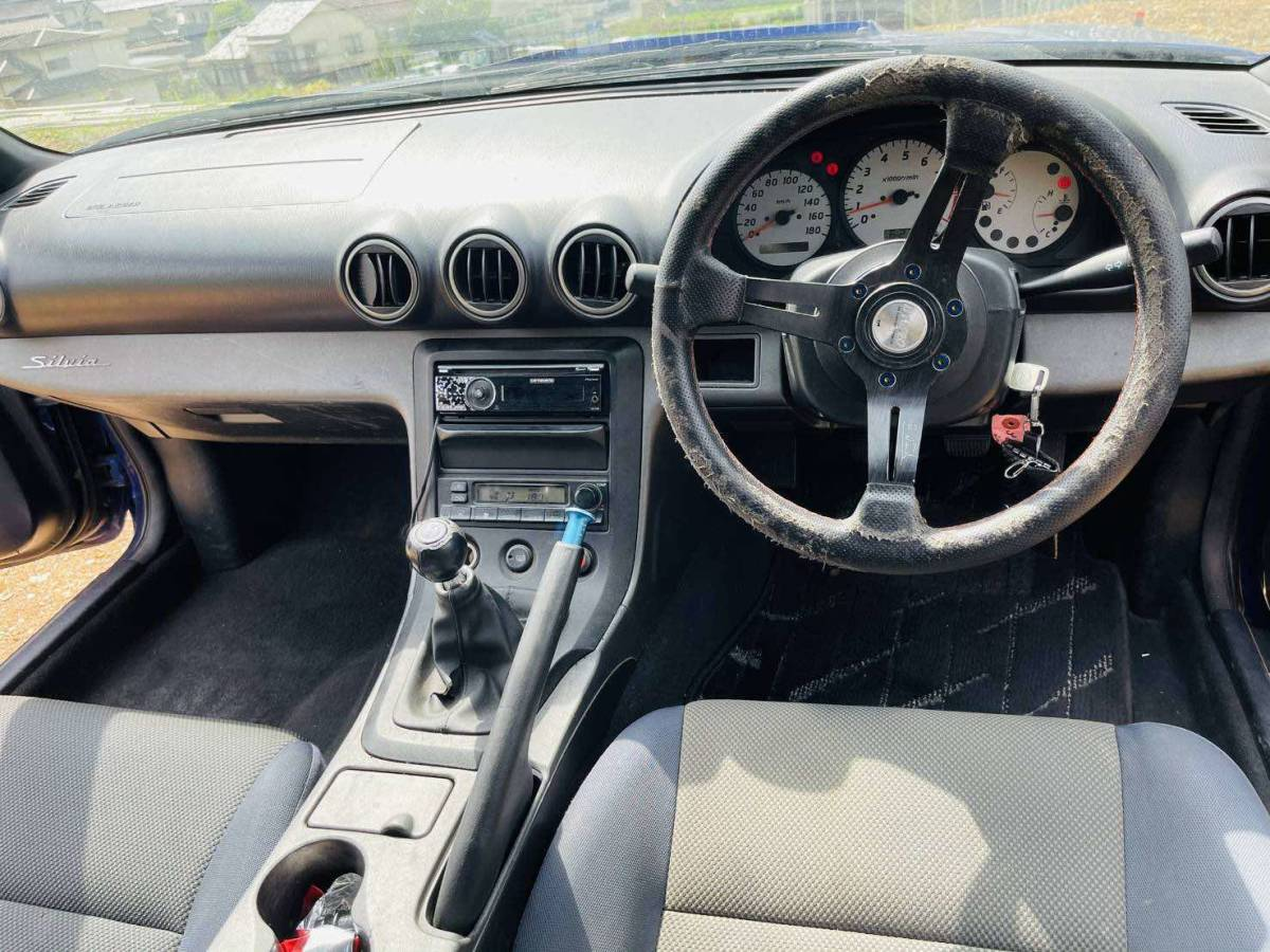 日産 シルビア*S15* 6速マニュアル*スペックR用F6ミッション載せ替え*車高調*クイックシフト*HIDヘッドライト_画像6