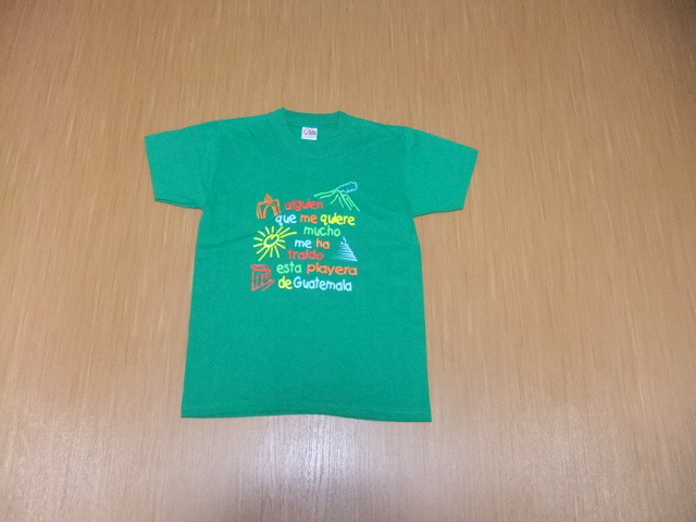 古着 プリントTシャツ グリーンS_画像1