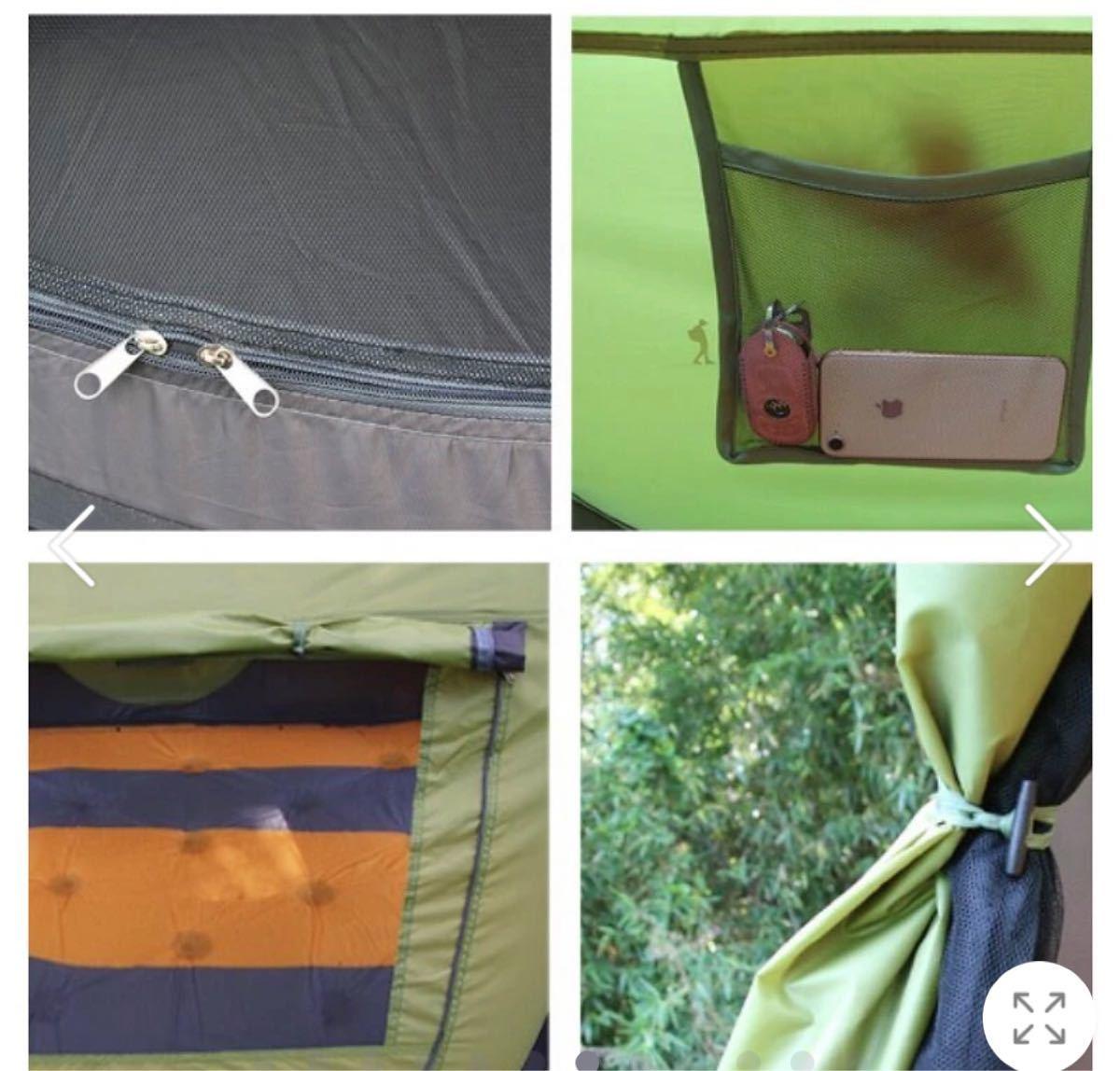 通気性良い 簡単設営ワンタッチテント キャンプ