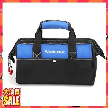 【新品 即決 早い者勝ち】13Inch WORKPRO ツールバッグ 工具差し入れ 道具袋 工具バッグ 大口収納 600Dオッ_画像7