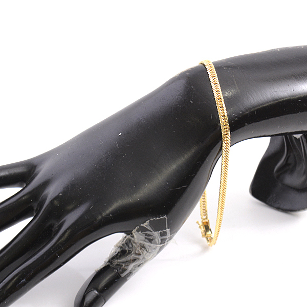 喜平 ブレスレット K18 8面カット トリプル 10g 23cm メンズ レディース チェーン イエローゴールド YG 【中古】_画像7