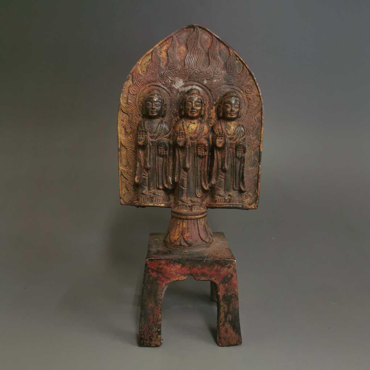 古仏 銅製 唐時代 北魏 魏晋 菩薩像 銅流金鍍金仏 仏教美術 泥金 古銅 仏教美術 時代物 お寺藏出