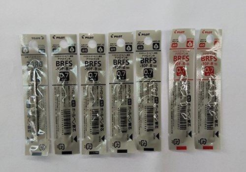 パイロット 油性ボールペン替芯 細字0.7mm 黒5本/赤2本 BRFS-10F-B/R 2色7本組み_画像1