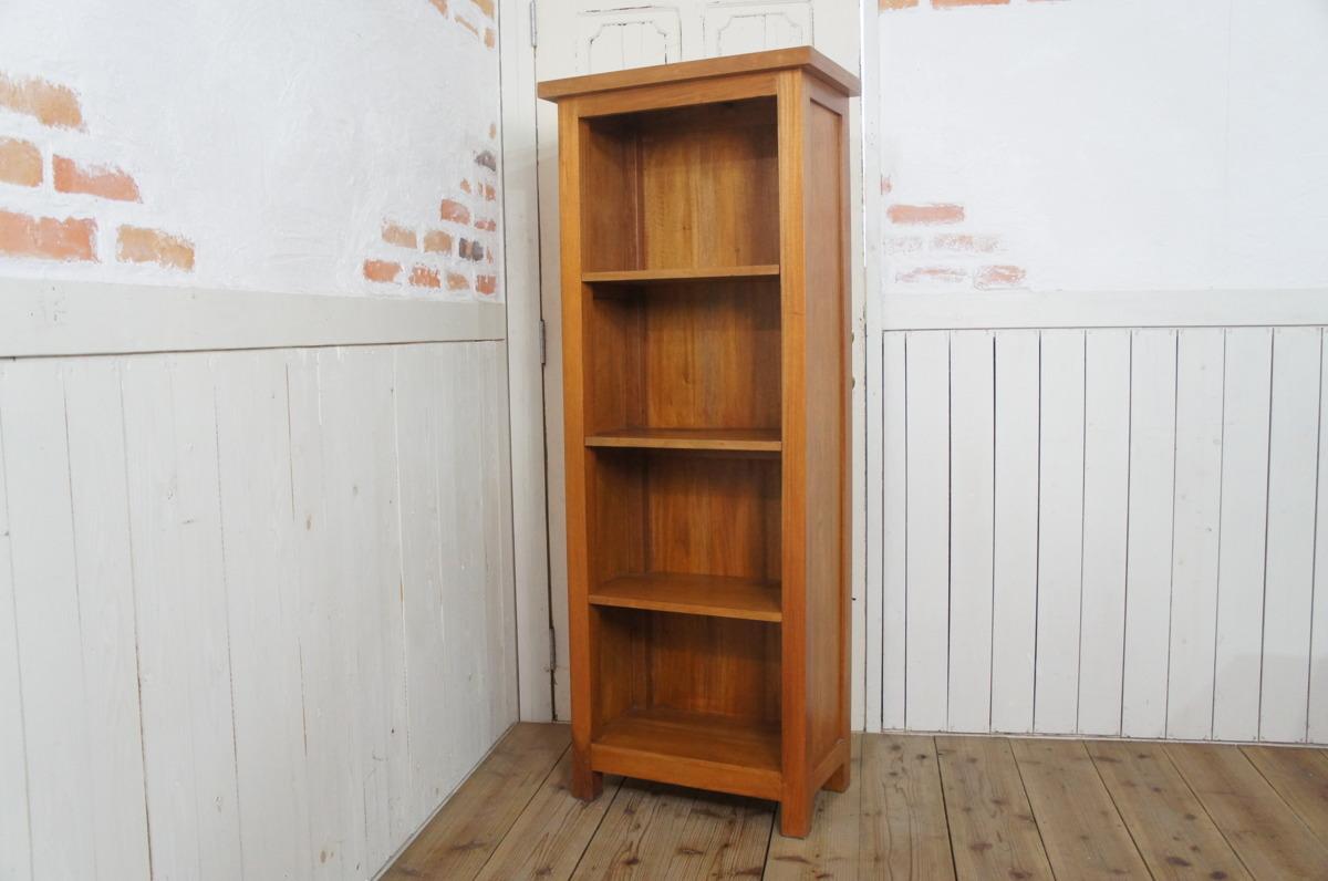 マホガニー無垢材 シェルフラック 収納棚 本棚 4段棚 ナチュラル_画像2