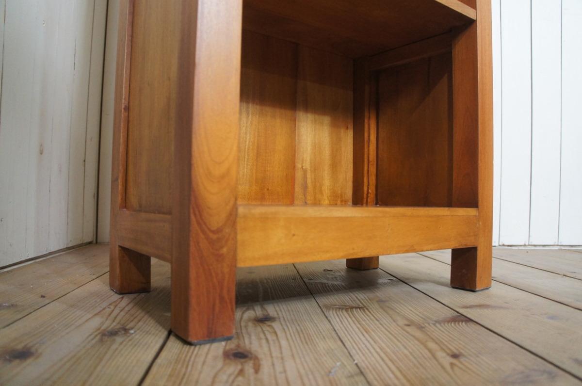 マホガニー無垢材 シェルフラック 収納棚 本棚 4段棚 ナチュラル_画像4