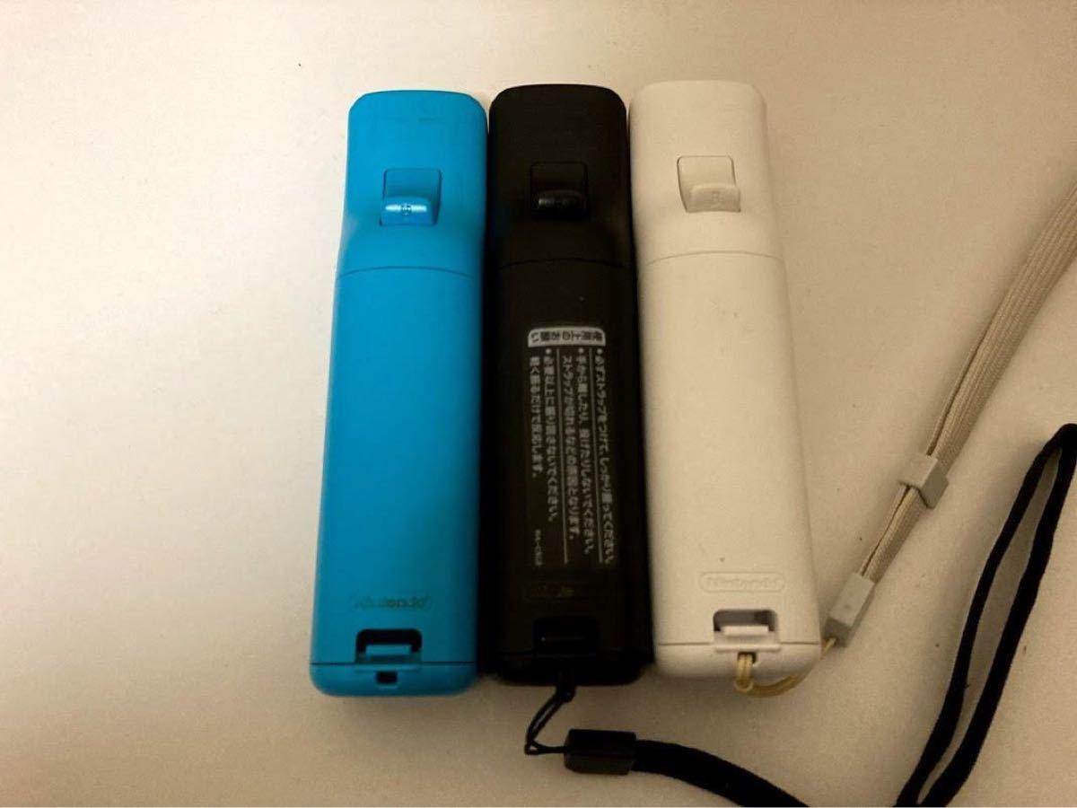 動作確認済 wii リモコンプラス 3個セット rvl-036 白 黒 青