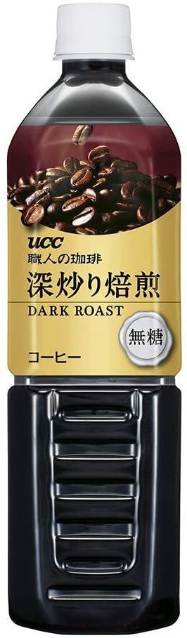 UCC 職人の珈琲 深炒り焙煎 低糖 コク深め ペットボトル 900ml ×12本_画像4
