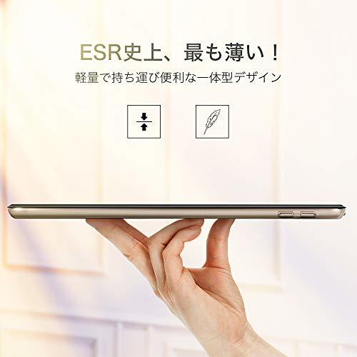 ESR iPad Mini 5 2019 ケース 軽量 薄型 PU レザー スマート カバー 耐衝撃 傷防止 クリア ハード 背_画像6