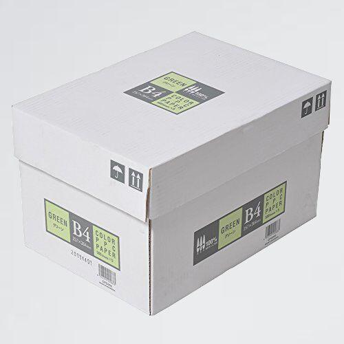 新品 未使用 カラ-コピ-用紙 APP T-HI 紙厚0.09mm 2500枚(500枚×5冊) B4 グリ-ン_画像1