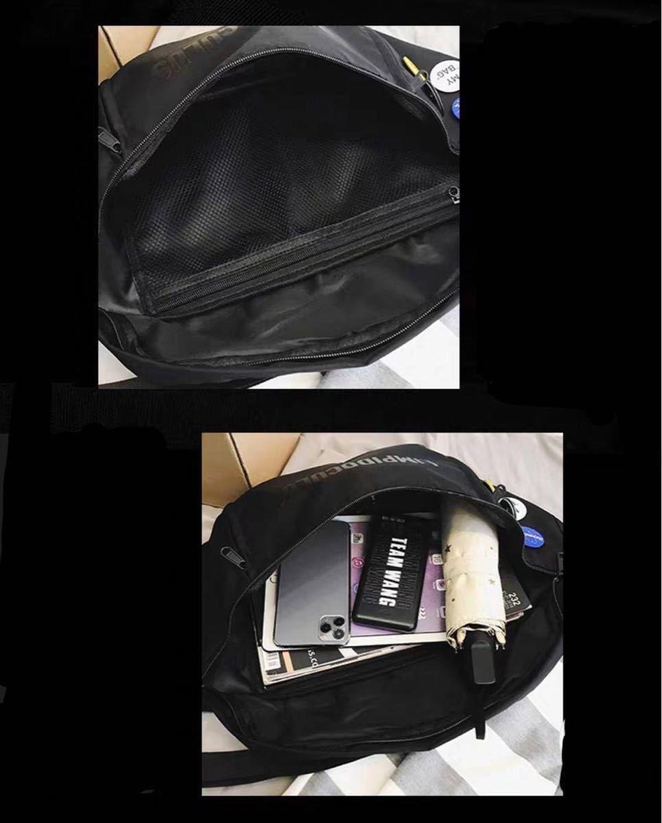 メンズ バッグ ボディバッグ ショルダーバッグ メッセンジャーバッグ 新品l ウエストバッグ ウエストポーチ ボディーバッグ 黒
