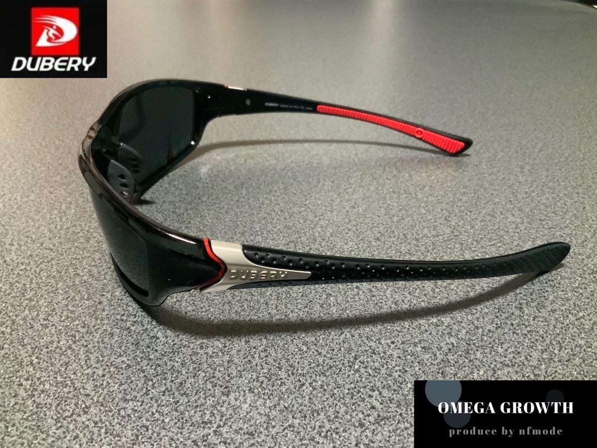 DUBERY偏光サングラス フルセット ブラック系レンズ #1
