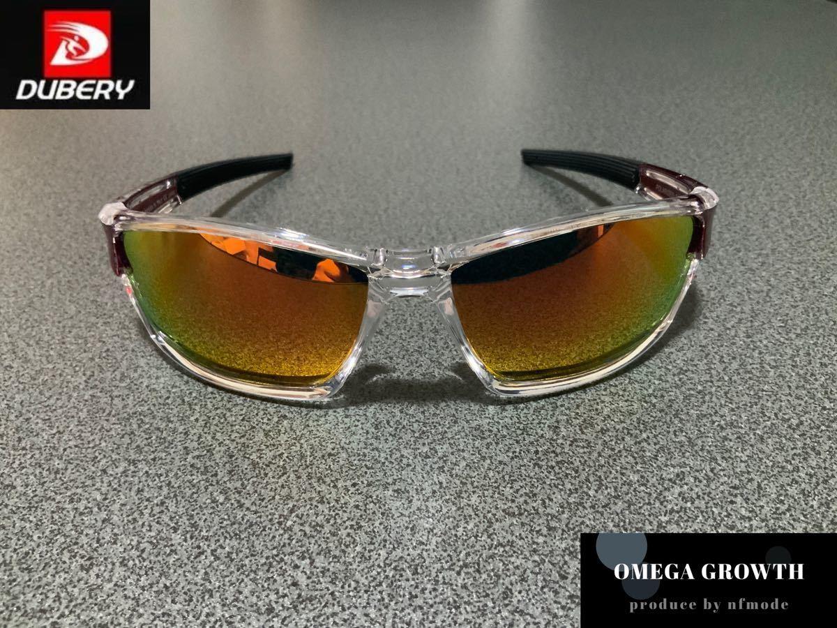 DUBERY偏光サングラス フルセット イエロー系レンズ #8