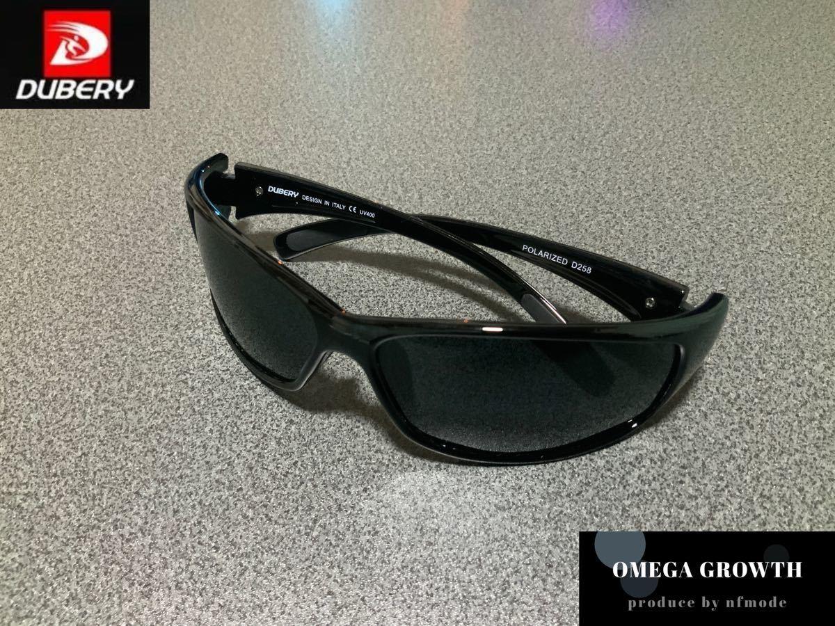 DUBERY偏光サングラス フルセット ブラック系レンズ #11