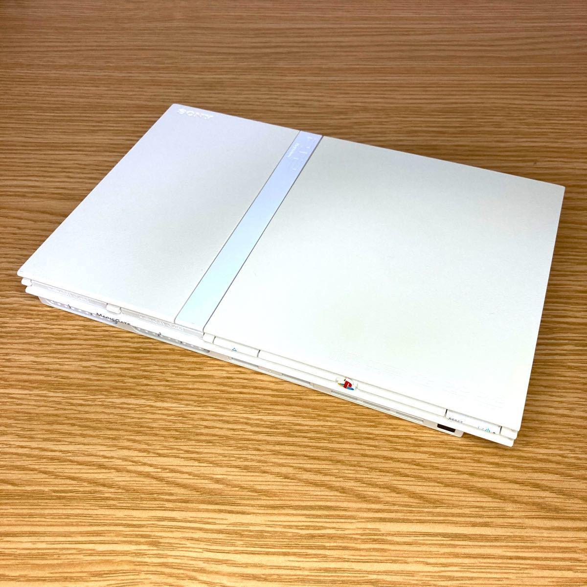 ★動作確認済み★ PS2 薄型 SCPH 77000 ホワイト 白 プレイステーション2 プレステ2  SONY メモリーカード