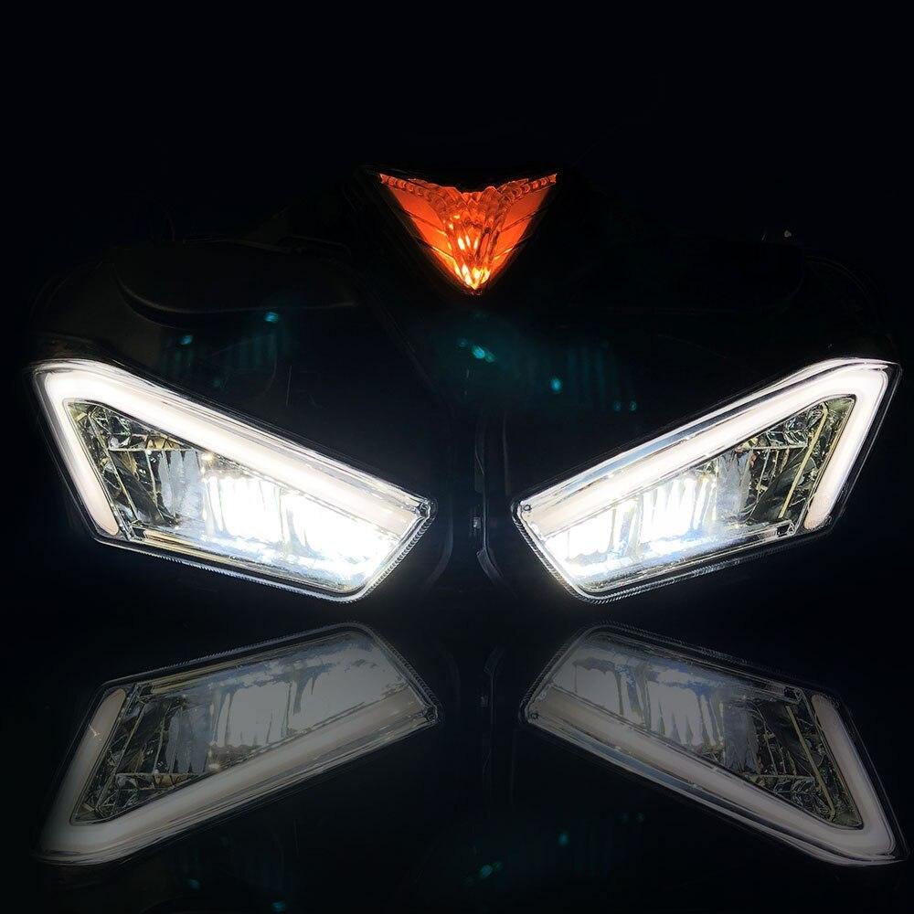 ★格安★ バイク オートバイ ヘッドライトフォグランプ LED ドライビング ランニング ライト カスタム ドレスアップ ヤマハYZF R25 R3_画像7
