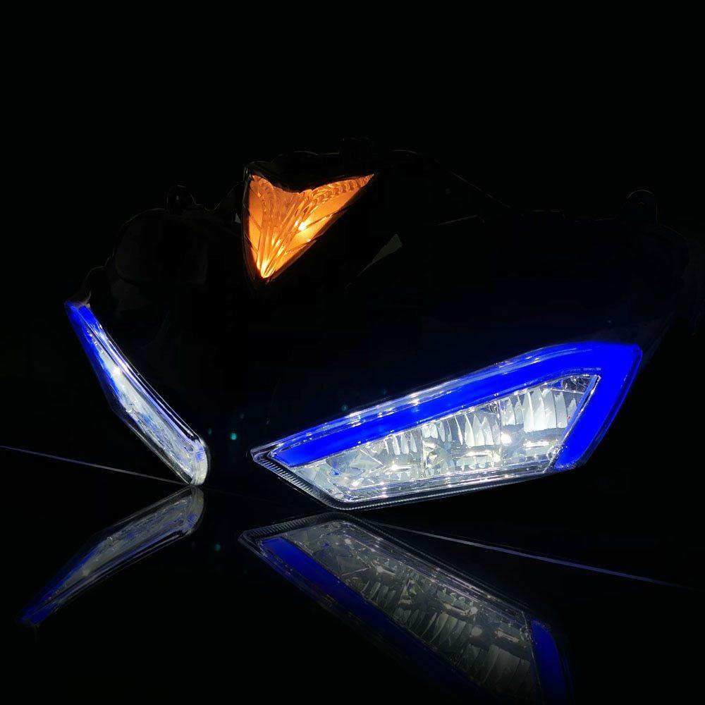 ★格安★ バイク オートバイ ヘッドライトフォグランプ LED ドライビング ランニング ライト カスタム ドレスアップ ヤマハYZF R25 R3_画像8