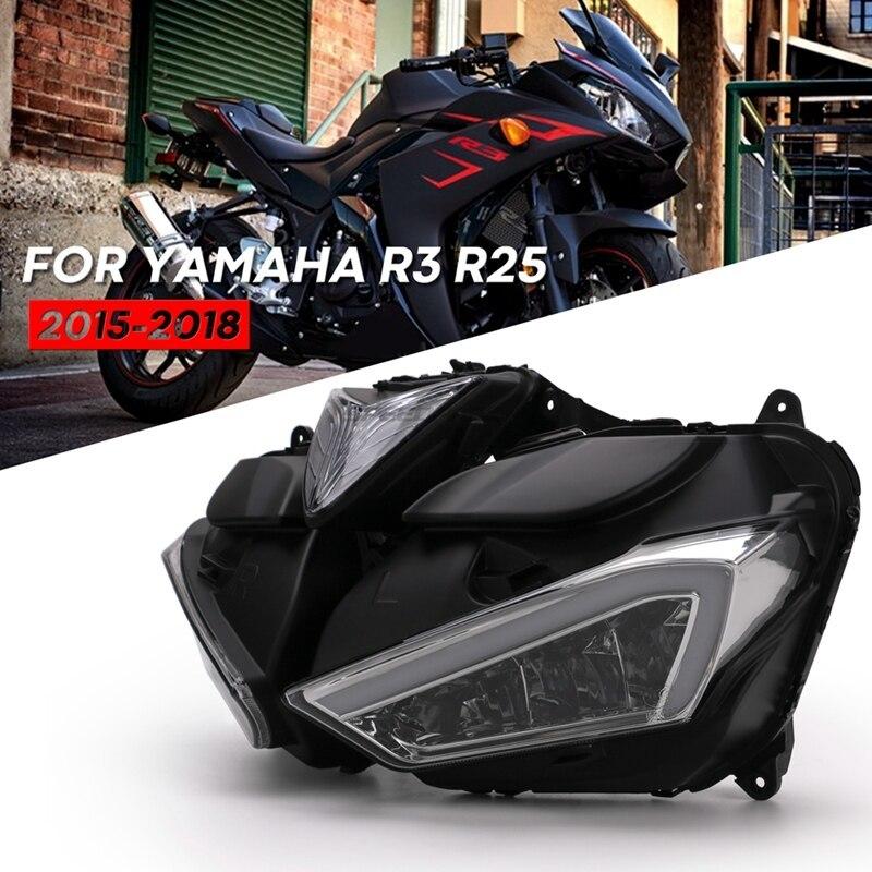 ★格安★ バイク オートバイ ヘッドライトフォグランプ LED ドライビング ランニング ライト カスタム ドレスアップ ヤマハYZF R25 R3_画像2