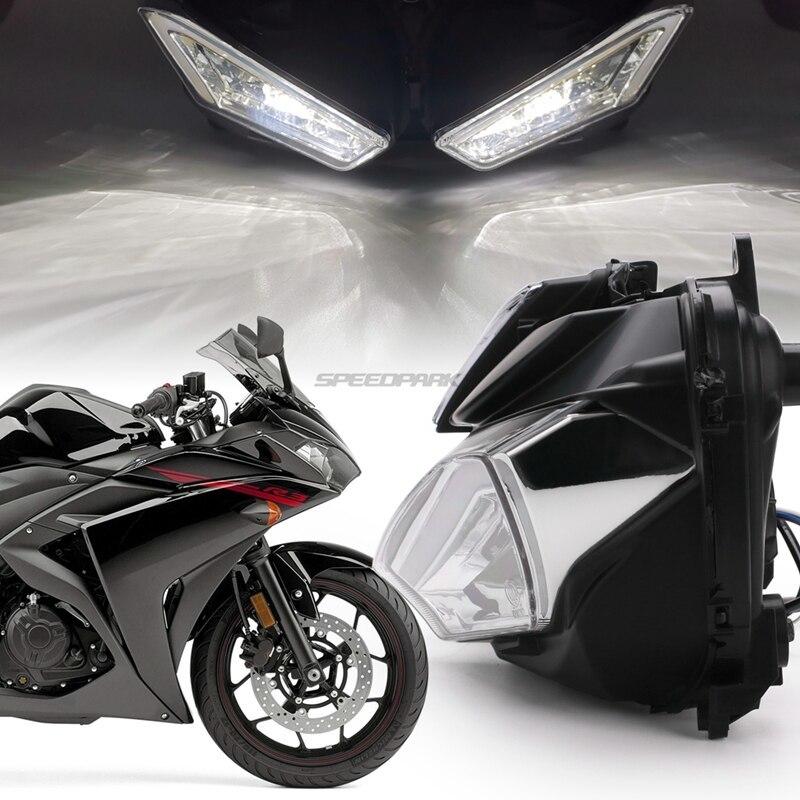 ★格安★ バイク オートバイ ヘッドライトフォグランプ LED ドライビング ランニング ライト カスタム ドレスアップ ヤマハYZF R25 R3_画像3