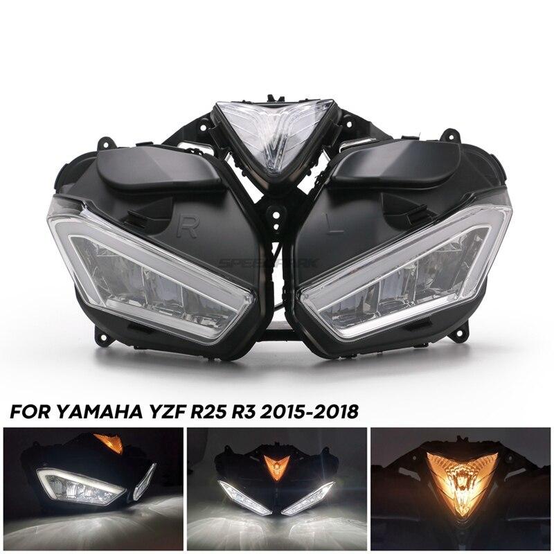 ★格安★ バイク オートバイ ヘッドライトフォグランプ LED ドライビング ランニング ライト カスタム ドレスアップ ヤマハYZF R25 R3_画像4