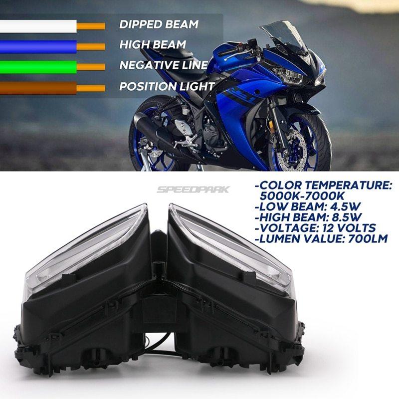 ★格安★ バイク オートバイ ヘッドライトフォグランプ LED ドライビング ランニング ライト カスタム ドレスアップ ヤマハYZF R25 R3_画像5