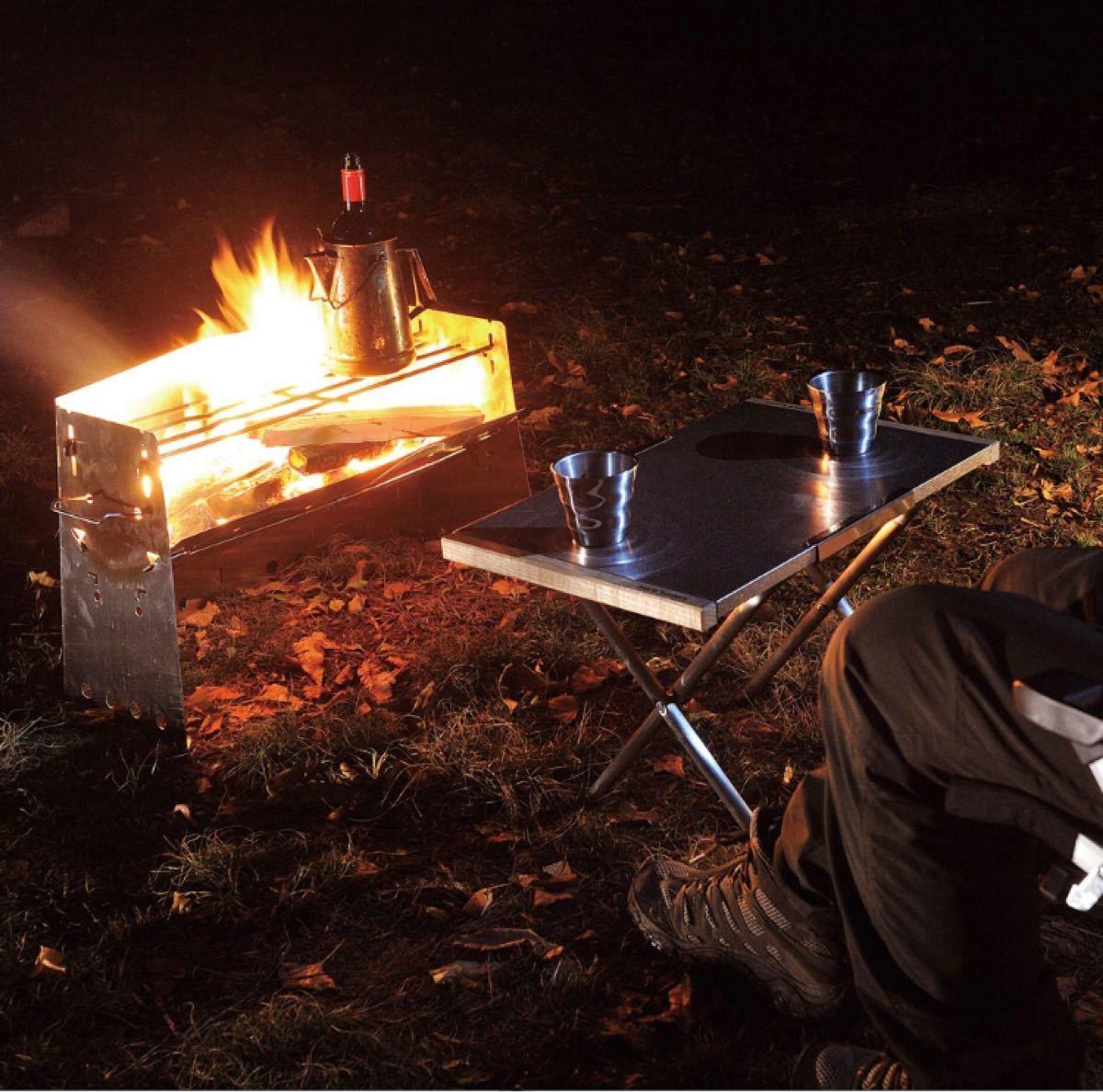ユニフレーム アウトドア キャンプ 焚火 BBQ テーブル 焚き火テーブル 682104