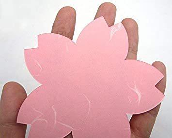 2色 100枚 【Amazon.co.jp 限定】和紙かわ澄 桜 和紙 さくらのかたち スーパーバリューパック 100枚 Aセッ_画像7